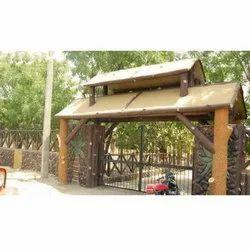 Entry Gate Cement Sculpture