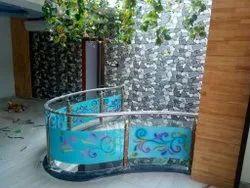 Spiral Glass Handrail