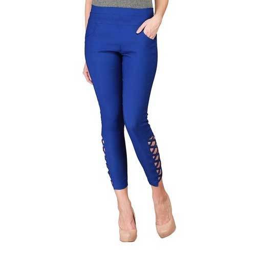 93b52c1ea866b Blue Lycra Cotton Ladies Designer Jeggings, Rs 205 /piece | ID ...