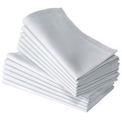 White Cotton Table Napkin, Size: 21x21 (in Inches)