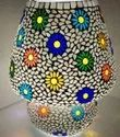 Mosaic Glass Mushroom Shaped Table Lamp