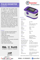 Dual Color Oled Display Trueview Pulse Oximeter With Perfusion Index