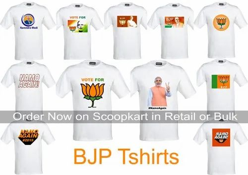 f18498ec BJP Election tshirts at Rs 75 /piece | BJP Campaign Tshirt, BJP ...