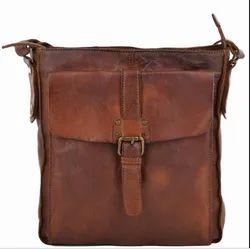 Unisex Mens Leather Post Bag