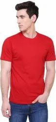 Red Cotton Plain Red T Shirt
