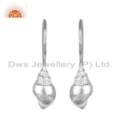 Conch Design 925 Sterling Fine Silver Earrings