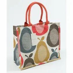 Designer Printed Jute Bag