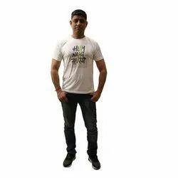 Kipa Half Mens Hum Nahi Sudhrenge Printed T Shirt, Size: L-XL