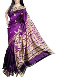 Gorgeous Ethnic Authentic BALUCHARI Hand Woven Silk Saree - RIAA