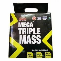 Mega Triple Mass Gain Powder, Packaging Type: Bottle