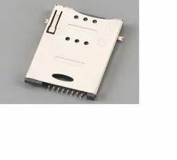 KLS 6 Pin Normal Push Push Sim Card Connector