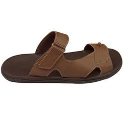Embrace Steps Daily wear Mens Brown Leather Slipper, Size: 6 - 11