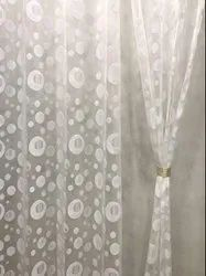 White Printed Tissue Window Curtain For Door