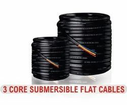 Submersible 3 Core Flate Cables