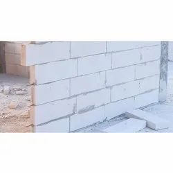 Solid Autoclaved Aerated Concrete Omega AAC Block, For Partition Walls, Size: 24 x 8 x 4 Inch