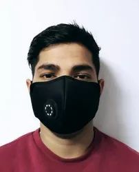 Reusable Washable,Cool Black Face Mask (Standard Size)