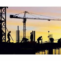 Concrete Frame Structures Marble Industrial Construction Services in Delhi
