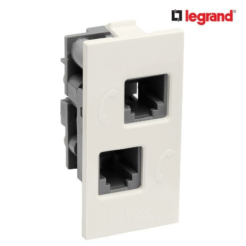 Double RJ11 Telephone Socket