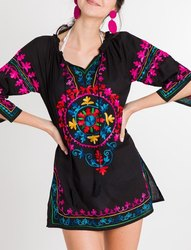 Womens Beach Wear Embroidered Tunic