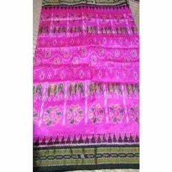 Santosh Handloom Printed Ladies Khandua Silk Saree, Without Blouse, 6.5 m