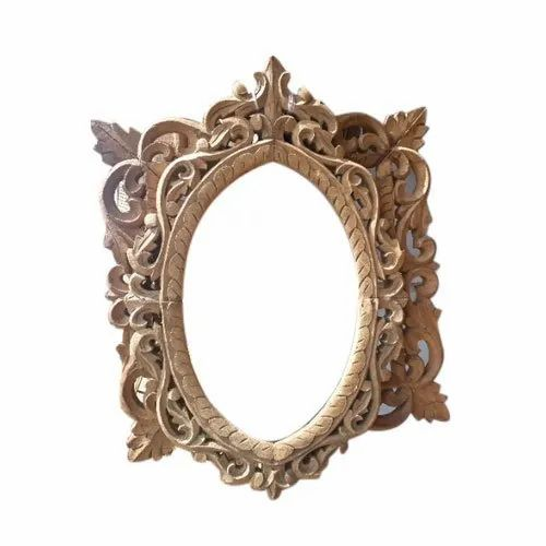 Wooden Antique Oval Carving Photo Frame