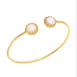 Rainbow Moonstone Adjustable Bangle