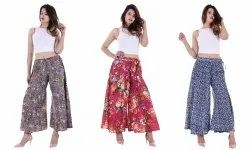 Cotton Floral Printed Women's Palazzo/Trousers
