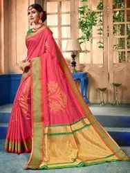 Art Silk Weaving Saree With Blouse Piece,5.5mtr