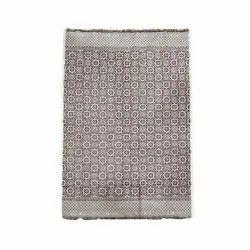 Rectangular Printed Cotton Room Carpet, For Floor, Size: 8x10 Feet