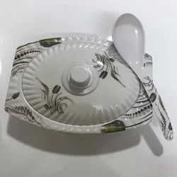 RR Serving Bowl Melamine Donga and Spoon Set, for Home
