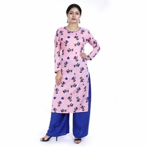 Regular 3/4th Sleeve Casual Ladies Cotton Kurti