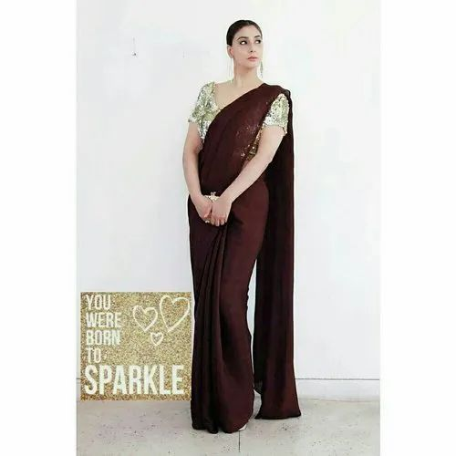 c797a95c2441fa Party Wear - Sequined Blouse with Saree Ecommerce Shop / Online ...