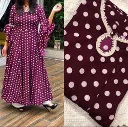 Anarkali Style Multicolor Ladies Printed Gown