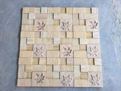 Fixing On Walls Natural Stones CNC Designer Mosaic Tiles, Thickness: 15-20mm