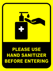Covid-19 Safety Poster Hand Santizer