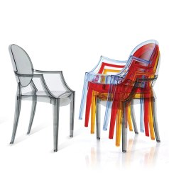 Federtek Modern transparent ghost arm Chair, For Home, Back Style: Medium Back