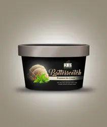 Butterscotch Ice Cream, Packaging Size: 4 Litter, Packaging Type: Box