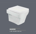 Scoware Nandni Wall Mounted Commode, For Bathroom Fitting, 495 X 350 X 345 Mm
