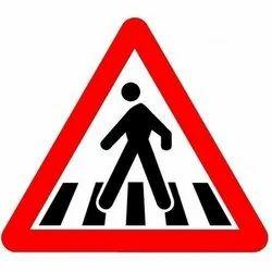 Zebra Cross Traffic Sign Board