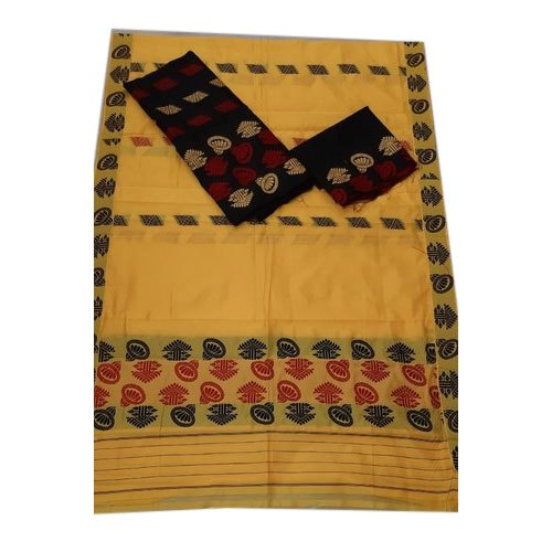 Printed Assamese Mekhela Sador, Packaging Type: Plastic Bag