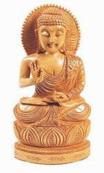 Wooden Mahveer Buddha