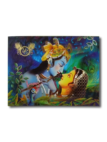 Paper Board Radha Krishna Box Wedding Card, Size/Dimension: 10x7.5x2 Inch