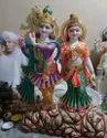 4 Feet Marble Radha Krishna Statue