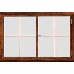 Brown Wooden Window, Rectangular