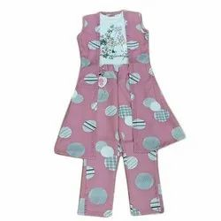 Cotton Casual Wear Kids Top and Pant with Jacket