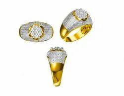 14K Men's Diamond Ring