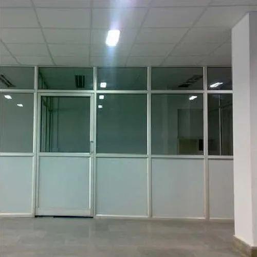 Aluminium & Glass Partition - Frameless Glass Partition