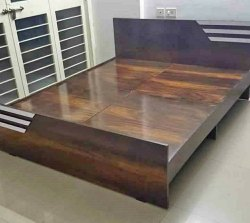Queen Size Wooden Bed Without Storage