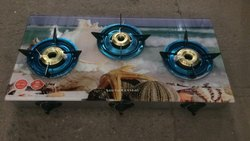 Surya 3 Gas Stove, Features: Auto-ignition, for Kitchen