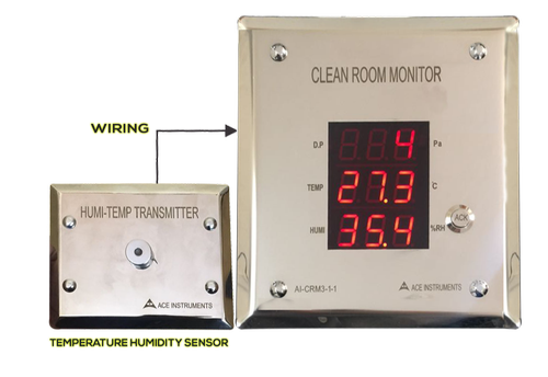 Ace Instruments Clean Room Monitor with External Sensor, Model Number: AI-CRM3-1-1